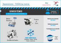 Reparaciones / Mantenimiento de Cortadoras de Fiambre, Picadoras de Carne, Balanzas y Frío Comercial