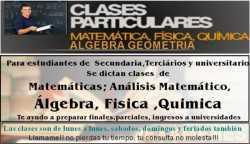 CLASES PARTICULARES DE MATERIAS EXACTAS