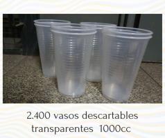 Vasos descartables transparentes 1000cc POR MAYOR