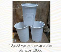 Vasos descartables blancos 330cc POR MAYOR