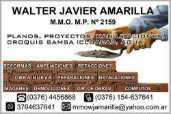 PLANOS MUNICIPALES, CROQUIS SAMSA (CLOACA - AGUA), PROYECTOS, REFORMAS, AMPLIACIONES, RECICLAJES, HA