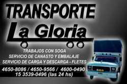 Transporte La Gloria: fletes, mudanzas, repartos