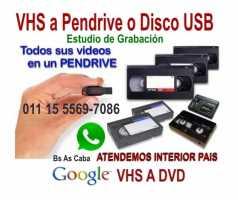 VHS Video a Digital Pen Drive Apto Smart TV.